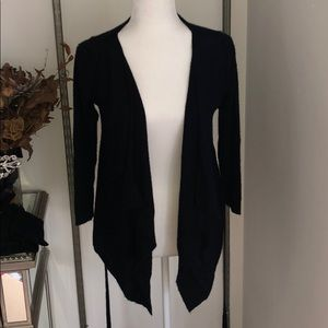 Autumn Cashmere Black Waterfall Sweater